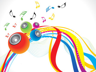 abstract rainbow musical wave background