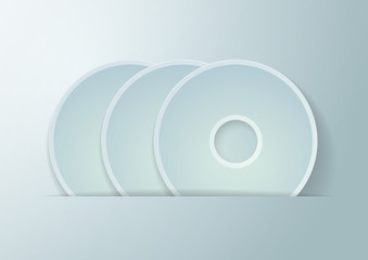 Paper Circles Vector Background