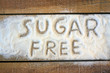 a sugar  free word with background - 81055227