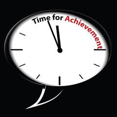 """Bubble clock """"Time for Achievement"""", vector"""