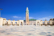 Leinwanddruck Bild - beautiful  mosque Hassan second, Casablanca, Morocco