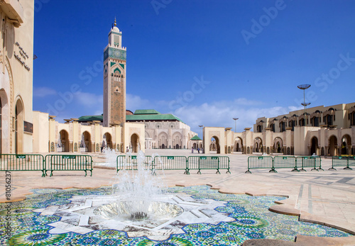 Papiers peints Edifice religieux beautiful mosque Hassan second, Casablanca, Morocco