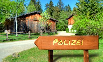 Strassenschild 32 - Polizei