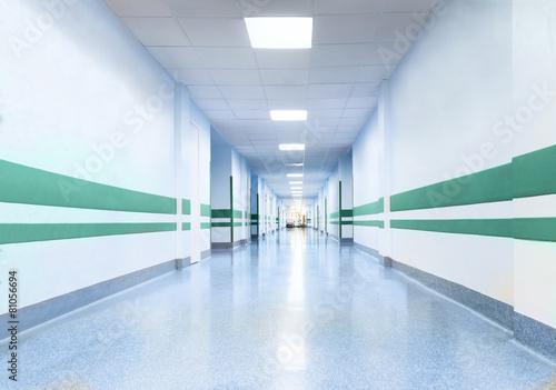 Long Corridor in Hospital - 81056694