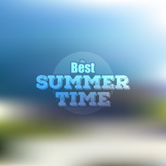 Summer time poster, vector web and mobile interface template