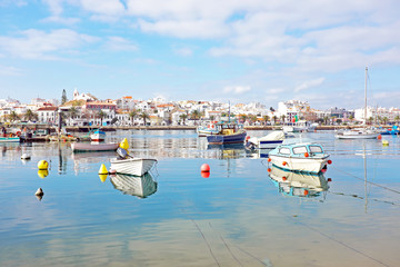 The harbor from Lagos in Portugal