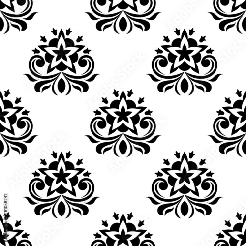 Tuinposter Kunstmatig Star shaped flowers in seamless pattern