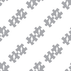 New Love puzzle seamless pattern