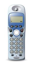 Modern wireless telephone. Vector illustration