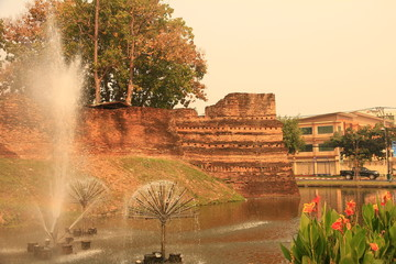 City Wall in Chiang Mai, Thailand