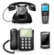 Vector telephone sets isolated on white background - 81059867