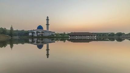 Sunrise At UNITEN Mosque - A time-lapse