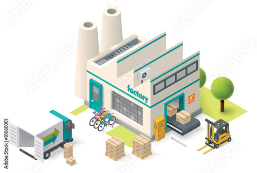 Vector isometric factory - 81060001