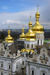 golden dome of the Kiev-Pechersk Lavra church