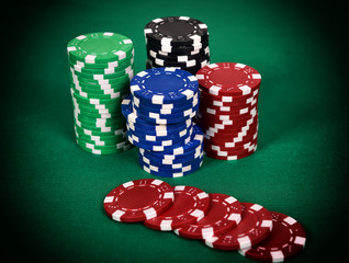 Color poker chip
