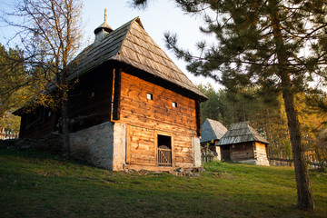 Serbian traditional house