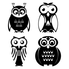 Decorative Vector Owls