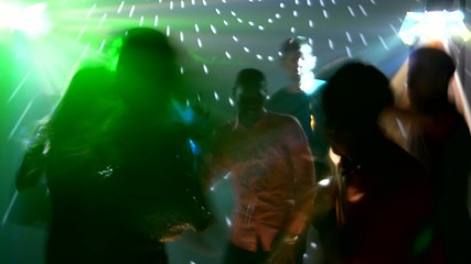 Party people dancing, catchy music, all very happy
