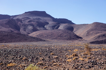 hilly, rocky desert in central Morocco