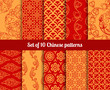 Chinese vector seamless patterns - 81061672