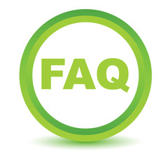 Green faq icon