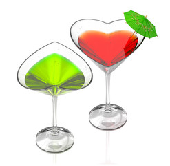 love cocktails-green & red