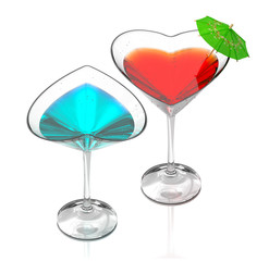 love cocktails-blue & red