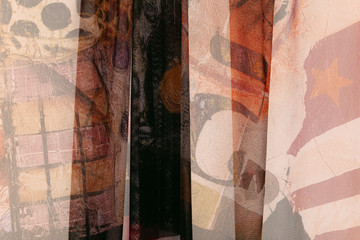 fabric with an abstract pattern
