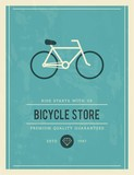 vintage poster for bicycle store