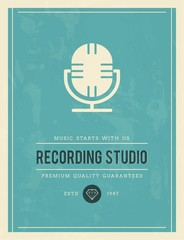 vintage poster for recording studio