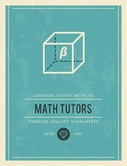 vintage poster for math tutors