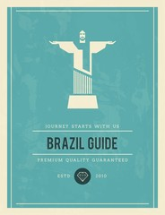 vintage styled poster for Brazil guide