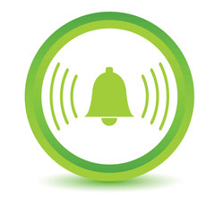 Green alarmclock icon