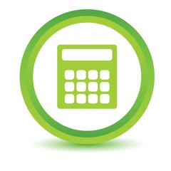 Green calculator icon