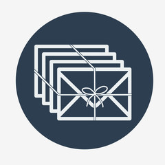 Single flat mail icon. Vector illustration.