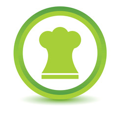 Green Chef hat icon
