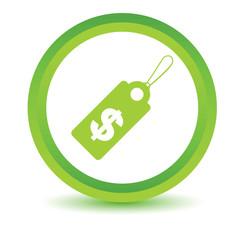 Green Dollar tag icon