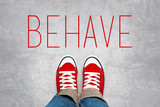 Behave Reminder for Young Person, Top View poster
