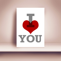 I Love You Poster on Sheld