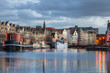 Leinwanddruck Bild - Historic Harbour in Leith, Edinburgh
