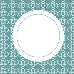 Design Retro Label, Frame, with Bow Vector Illustration
