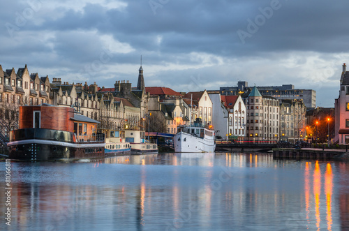 Historic Harbour in Leith, Edinburgh - 81066811