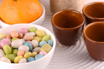 candies and fruits