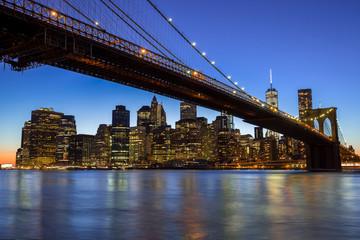 New York City Manhattan Brooklyn Bridge skyline