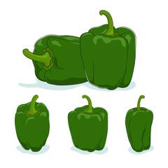 Green bell pepper,sweet pepper or capsicum