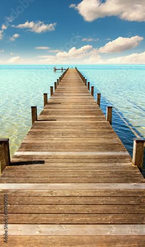 Fototapeta Pomost prowadzący do morza