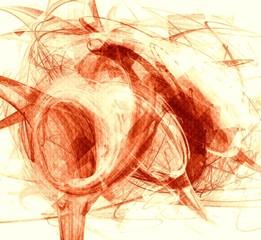 Textured red background, grunge style