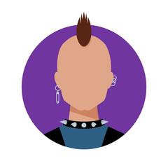 Punk. Male avatar.