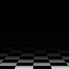 Background chess board floor, black