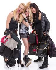 A group of happy girls having fun